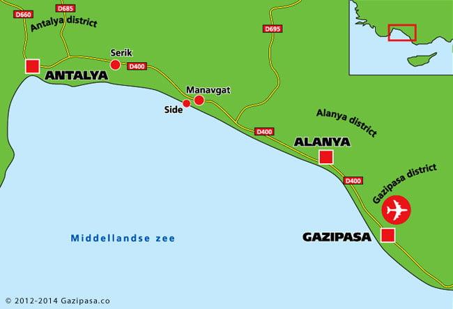 gazipasa plattegrond
